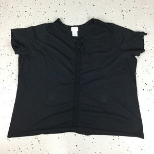 Only Necessities Black Short Sleeve 4X